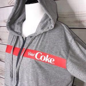Coca Cola Tops - Diet Coke Grey Zip Up Hoodie Like New Small RARE